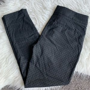 Loft Marisa Skinny Dot Slacks Pants in Gray